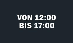 12:00 - 17:00 Uhr