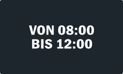 08:00 - 12:00 Uhr